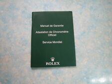 AUTHENTIC RO LEX TRANSLATION BOOKLET GUARANTEE MANUAL