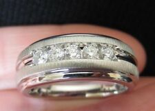 New 10K Size 10.5 Mens 1/2ct Natural Diamond Wedding Band Ring 6.8g White Gold