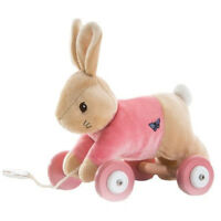 Flopsy Bunny or Peter Rabbit Pull Along Soft Toy - Baby Gift   FAST DISPATCH!