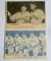 """1975 TCMA 1951 New York Giants Leo Durocher Willie Mays + 1946 Red Sox Pic """"FREE"""