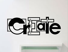 Create Wall Decal Classroom Poster Education Vinyl Sticker School Decor Art 44me