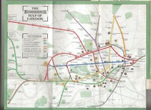 VERY EARLY WARD LOCK RED GUIDE - LONDON 1913 - RARE COLOUR UNDERGROUND/TUBE PLAN