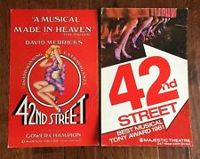 LOT of 2  42nd Street BROADWAY NY PLAY 1982 Merrick Majestic Theatre CARD POSTER