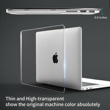 Glossy Clear Rugged Hard Case+Keyboard Cover for Mac MacBook Air Pro 11 12 13 15