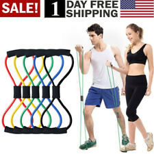 Yoga Elastic Cord 8-Shape Tube Resistance Band Fitness Muscle Workout Exercise