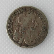 More details for collectable king charles ii silver fourpence coin - 1672