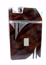 Antique Deco MARATHON Slide-A-Lite Lighter Cigarette Case Combination Engrave