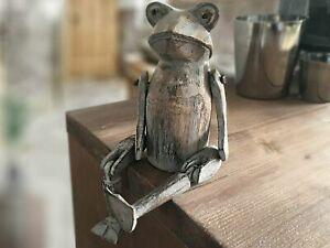 Froschfigur Dekofigur Froschpaar 2er Set Deko Frosch Kantenhocker M/ädchen und Junge