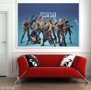 Fortnite Poster on Photo Paper Battle Royale Game Wall Decals Decor Art Print XL