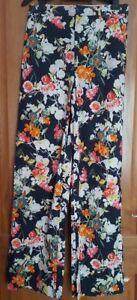 Zara Floral Printed Wide  Poplin Trousers BNWT SIZE M