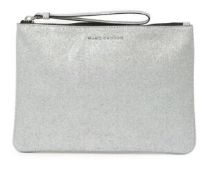 Marc Jacobs Glitter Wristlet Clutch [Silver] NWT $140