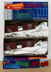 Lot of 2 Roundhouse 3204 HO 36' Boxcar Kits Illinois Terminal ITC  8011 8009 NIB