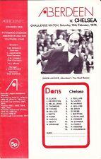 Aberdeen v Chelsea 16 Feb 1974