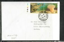 GUERNSEY ALDERNEY  (P3005B)  LOBSTER , SEA URCHIN 1994  PR COVER TO SWEDEN
