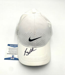 BROOKS KOEPKA PGA SIGNED NIKE GOLF HAT AUTOGRAPH BECKETT BAS COA 1