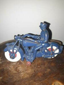 """1930's A.C. WILLIAMS CAST IRON MOTORCYCLE 7"""" VERY NICE"""