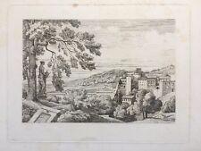Caruelle d'Aligny, Gravure XIXe, Italie, Engraving, Incisione, Radierung,19th.