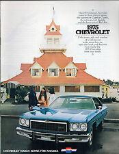 Chevrolet Bel Air Impala Caprice Classic 1975 USA Market Sales Brochure