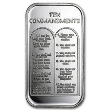 1 oz Silver Bar - Ten Commandments - SKU #26862