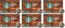 60 K CUPS Starbucks House Blend Medium Roast Single Cup Coffee Keurig BB 1/2020