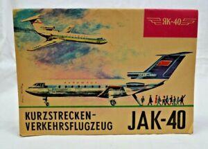 Modellbogen DDR Heft Verkehrsflugzeug JAKOWLEW JAK-40 RK-40 Kranich 7183