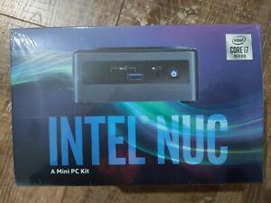 """Intel NUC i7-10710U 4.7GHz 2xDDR4 M.2 & 2.5"""" SSD 3xDisplays HDMI USB-C DP GbE LA"""