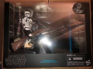 Star Wars The Black Series SPEEDER BIKE WITH BIKER SCOUT MIB Hasbro