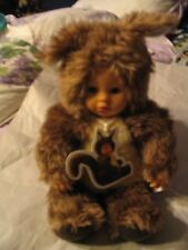 Vintage Anne Geddes Squirrel Doll Exc Cond w/ tag + large AG light cover L00k