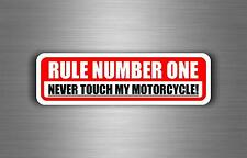 Sticker car motorcycle helmet decal chopper warning biker rule number one