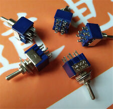5Pcs 6Pin 3Position ON-OFF-ON DPDT Latching Toggle Switch FH 125V/6A NJN_ BF