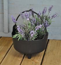 Garland Small Black Plastic Halloween Witches Cauldron Garden Flower Planter