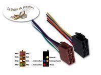 Connecteurs fiches mâles ISO 8PIN + 5PIN - Faisceau universel précâblé autoradio