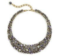 Heidi Daus FANTASY IN FLIGHT Crystal Necklace - Tanzanite / Hematite