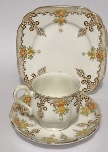 Antique Vintage ROYAL ALBERT ENGLAND TRIO CUP & SAUCER & PLATE