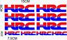 FE KIT 10 ADESIVI HRC MOTO CASCO STICKERS DECALS AUFKLEBER /939