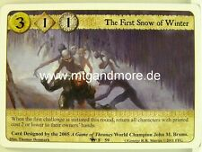 A Game of Thrones LCG - 1x The First Snow of inverno #059 - on Dangerous Grounds