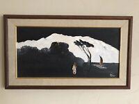 "Mid Century Modern Homer Costello Oil Painting 17""x29"" Seascape Original K9914"