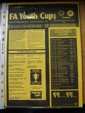 FA Cup Wolverhampton Wanderers Teams S-Z Football Programmes