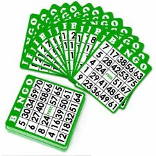 15 Green Bingo Cards with Jumbo Numbers - Australia only