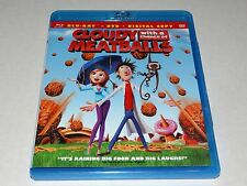 Cloudy with a Chance of Meatballs, Blu-ray + DVD No Digital Copy MINT Widescreen