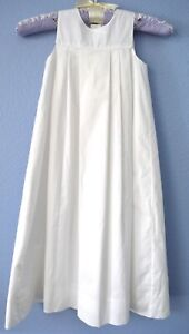 STRASBURG CHILDREN WHITE COTTON BAPTISMAL DRESS LONG W/ HAT NEW W/TAGS SZ 3 MO.