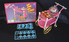 GLORIA FURNITURE SIZE TEA TIME CART SET W/Cake PLAYSET FOR BARBIE DOLLHOUSE NEW