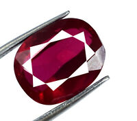 Burma Red Ruby Loose Gemstone 6-8 Ct Untreated Natural Oval Cut AGSL Certified