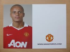 2010-11 Wes Brown Unsigned Man Utd officiel club Carte (9743)