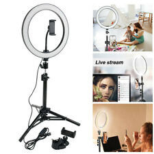 "10"" Selfie Desktop Led Ring Light Kit W/Stand Phone Holder Makeup Youtube Live"