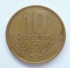 Costa Rica 10 Colones 1995 Brass Plated Steel Coin M