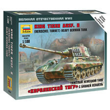 Zvezda 6204 Sd.kfz 182 King Tiger Henschel 1:100 Snap Fit Tank Model Kit