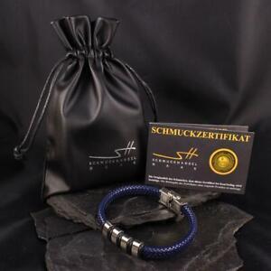 Men's Faux Leather Stainless Steel Bracelet, Men's + Jewellery Bags,