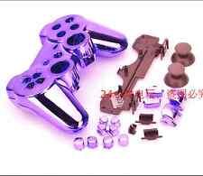 Púrpura Cromado Carcasa Shell Funda protectora para PS3 controlador Dualshock 3