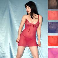 sexy transparentes NEGLIGEE stretchig & weich* S 38 Dessous Nachtkleid* Babydoll